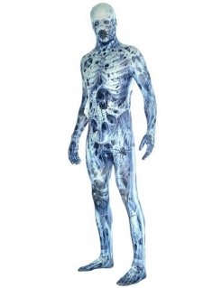 Monster-Morphsuit Horrorkostüm blau