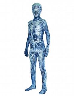 Spinnennetz-Morphsuit™-Kostüm für Kinder blau-weiss