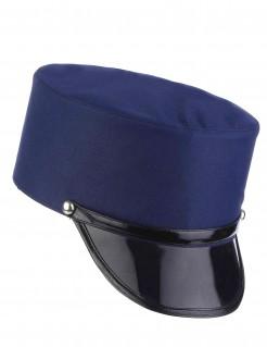 Polizeimütze Offizierskappe blau-schwarz