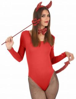 Verführerische Teufelin Halloween Accessoire-Set für Damen 3-teilig rot