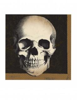 Papierservietten mit Totenschädel Halloween-Tischdeko 20 Stück 33 x 33cm