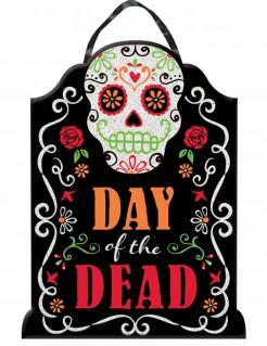 Dia de los Muertos Halloween-Wanddeko mit Pailletten bunt 40 x 30cm