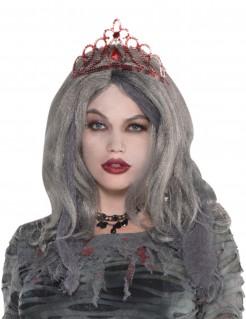 Halloween-Tiara Gothic Kostüm-Accessoire rot
