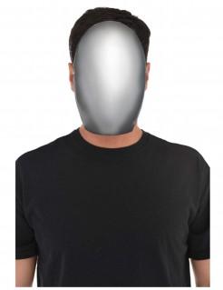 Gesichtsloser Halloweenmaske Kostümaccessoire weiss-grau