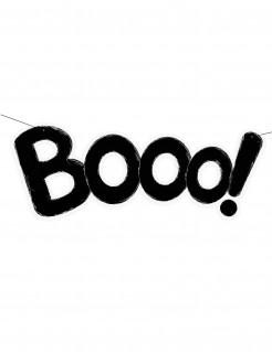 Booo! Banner Halloween-Partydeko schwarz 62cm