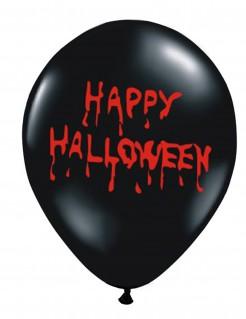 Happy Halloween-Luftballons 6 Stück schwarz-rot