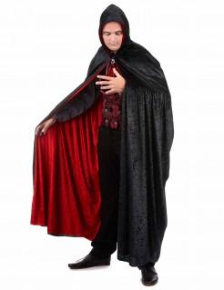 Deluxe Vampir-Umhang zum Wenden mit Kapuze Kostüm-Accessoire für Halloween schwarz-rot 150cm