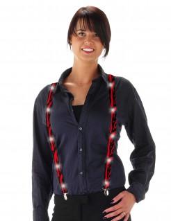 Hosenträger mit LEDs Halloween Kostüm-Accessoire schwarz-rot