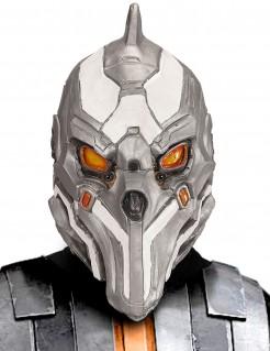 Spektakuläre Cyborg-Maske für Erwachsene silber