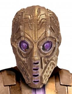 Roboter-Maske für Erwachsene gold