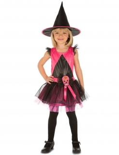 Dia de los Muertos Hexenkostüm für Mädchen schwarz-pink
