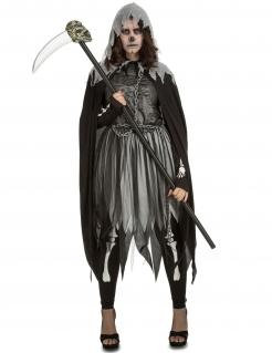 Sensenmann-Verkleidung für Damen grau-schwarz