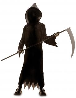 Sensenmann Halloween-Kinderkostüm mit Kapuze schwarz