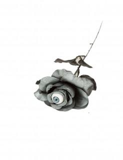 Halloween-Rose grau-schwarz