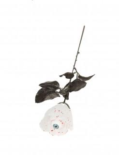 Halloween-Rose mit Auge weiss-schwarz