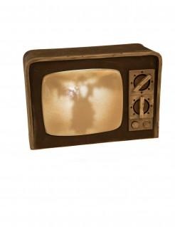 Heimgesuchter Fernseher beige-braun 21 x 31 cm