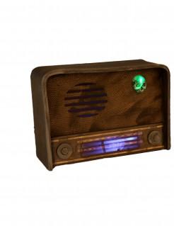 Halloween-Radio leuchtend braun-grün-violett 31 x 11 cm