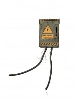 Gefährlicher Sicherungskasten grau-gelb-schwarz
