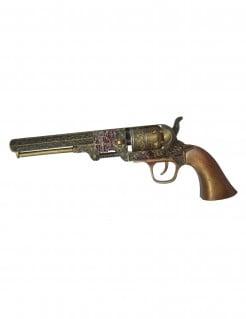 Steampunk Spielzeug-Revolver braun 25 cm