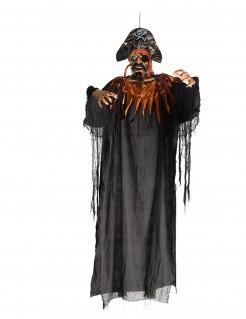 Pirat als Hängefigur Halloween schwarz 170cm
