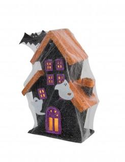Leuchtendes Spukhaus Halloween-Deko bunt 30cm