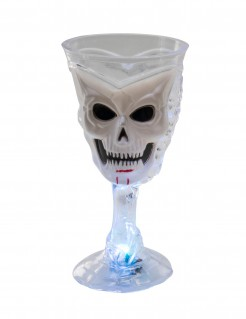 Leuchtender Totenkopf-Kelch Halloween-Trinkbecher transparent