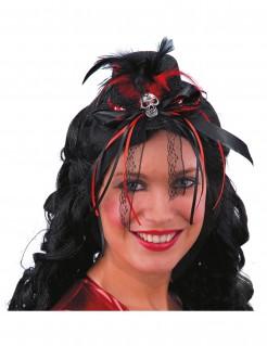 Dia de los Muertos Halloween-Minihut schwarz-rot