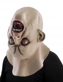 Monster mit umgedrehtem Kopf Horror-Maske für Halloween hautfarbe