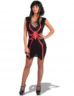 Spinnen-Hexe Halloween-Damenkostüm schwarz-rot