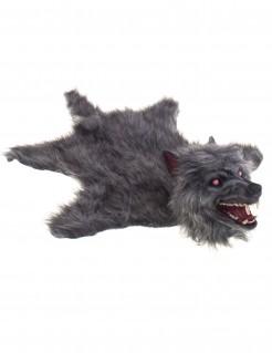 Wolf als Vorleger mit Leucht- und Geräuschfunktion grau 75x50cm