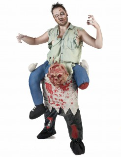 Schauriger Zombie Carry Me-Halloweenkostüm für Herren bunt