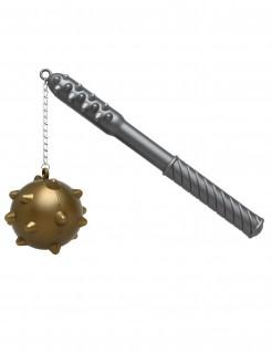 Kunststoff-Morgenstern Spielzeugwaffe silber-gold 33 cm