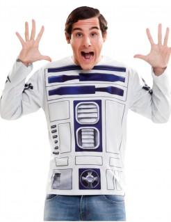 Star Wars T-Shirt R2-D2 Lizenzware weiss-blau