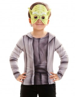 Star Wars™ Kinder-Shirt Yoda Lizenzware grau