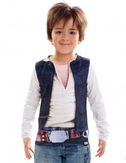 Star Wars™ Kinder-Shirt Han Solo Lizenzware blau-weiss