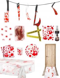 Blutige-Halloweenparty Deluxe Deko-Set 11-teilig bunt