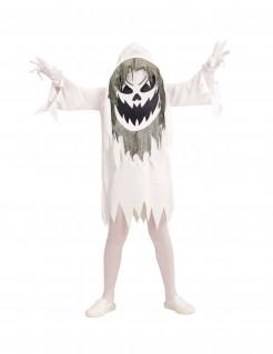 Geisterkostüm für Kinder mit Riesenkopf weiß