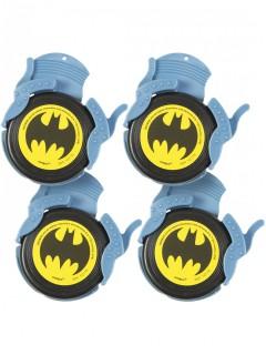 Batman™ Flugscheiben Partyanimation 4 Stück grau-schwarz-gelb