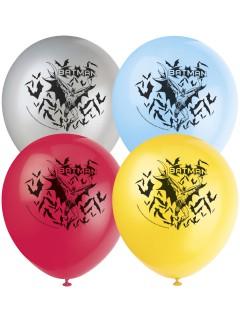 Batman™-Luftballons aus Latex 8 Stück bunt 30 cm