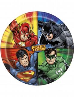 Justice League™ Pappteller 8 Stück bunt 23 cm