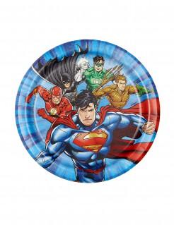 Justice League™ lizenzierte Pappteller 8 Stück bunt 18 cm