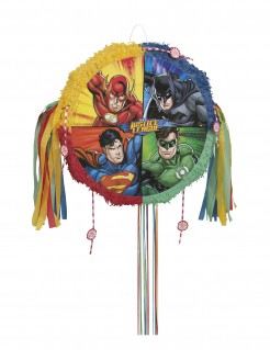 Justice League™-Piñata Superhelden-Deko bunt 50cm