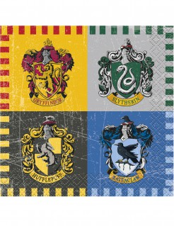 Harry Potter™ Papierservietten Party-Tischdeko 16 Stück bunt 25 x 25cm