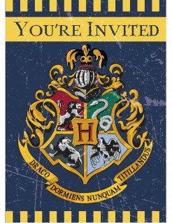 Harry Potter™ Einladungskarten Party-Accessoire Lizenzware 8 Stück bunt