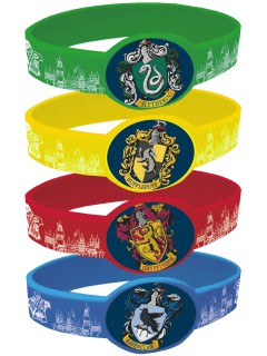 Harry Potter™ Plastikarmband-Set 4 Stück bunt