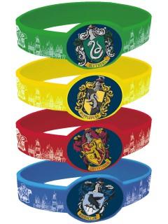 Harry Potter™ Plastikarmband-Set 4 Stück bunt