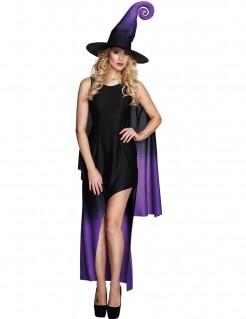 Schwarze asymmetrisches Halloween Hexen Damen Kostüme
