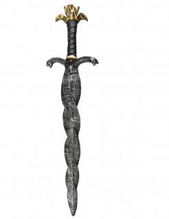 Spielzeug-Schwert Schlangenschwert schwarz-gold 90cm