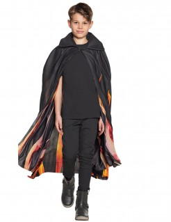 Flammenumhang für Kinder Halloween-Accessoire schwarz-gelb-rot
