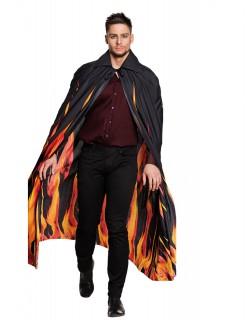 Flammen-Umhang Teufelsumhang schwarz-rot-gelb